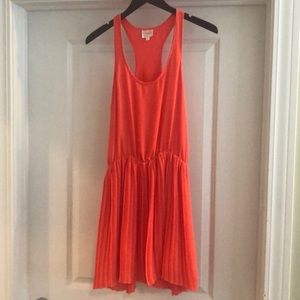 Parker Coral Short Racer Back Dress